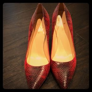 Kate Spade red python pumps